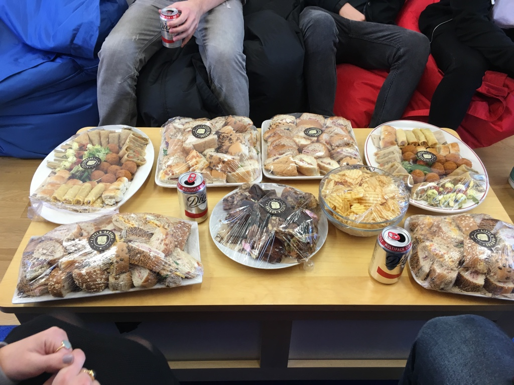 A fantastic lunch provided by Littlebreads for the Work in the Web students of 2016.