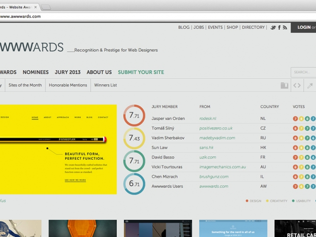 Awwwards Site of the Day – 29/07/2013