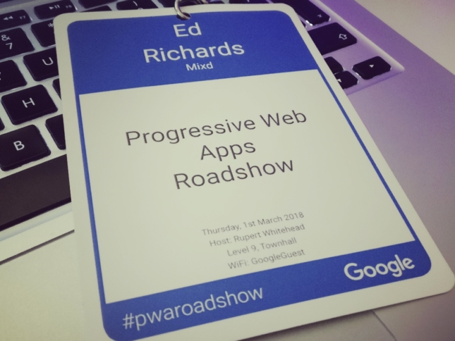 Google PWA Roadshow: London