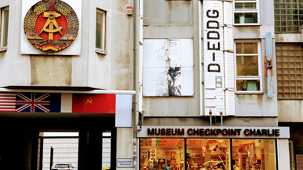 The entrance to the Checkpoint Charlie museum