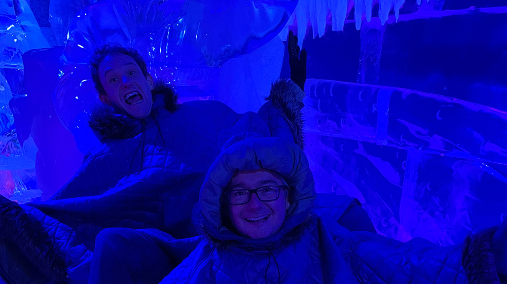 Phil and Mike in the Berlin Ice Bar