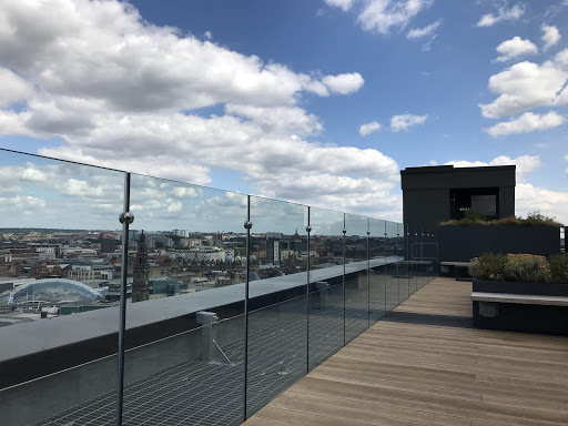 rooftop terrace with view of Leeds