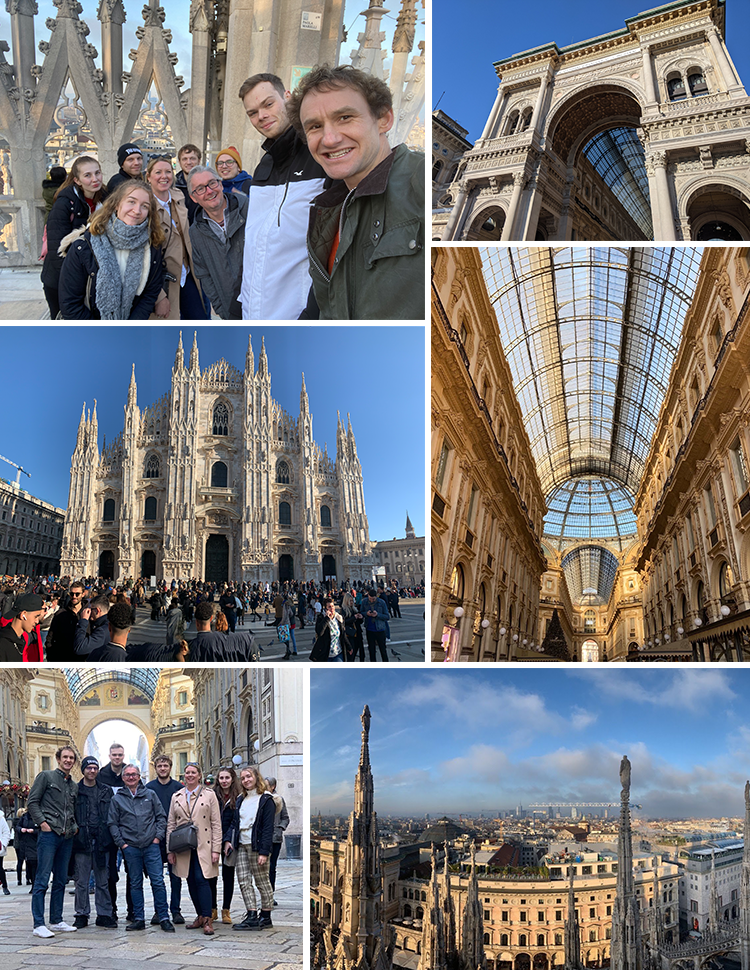 The Mixd team in Milan - the cathedral and shopping centre
