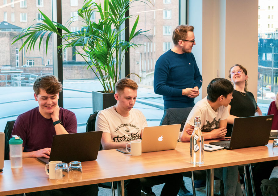 attendees enjoying themselves during a javascript workshop